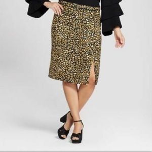 Who What Wear Cheetah Print Midi Dress